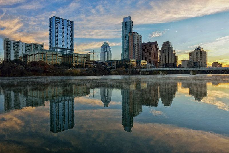 Austin Skyline in Winter