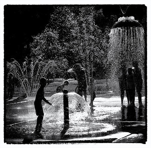 Summertime Fun in Pease Park, Austin, Texas