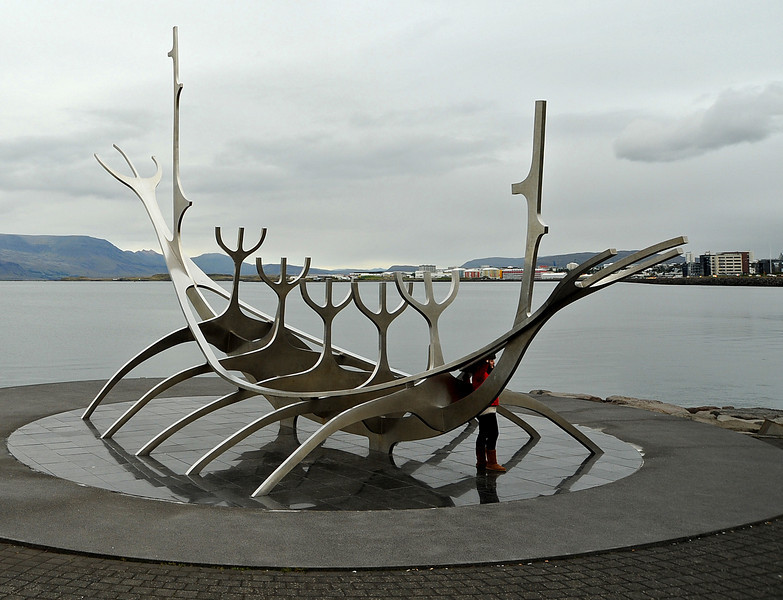 Viking ship sculpture, Reykjavik, Iceland, Sep 2010