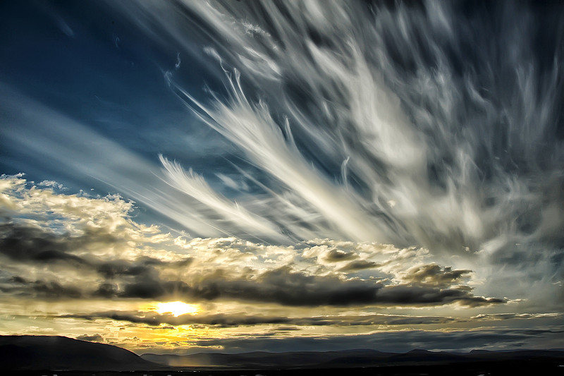 Feathered Sunset in Iceland