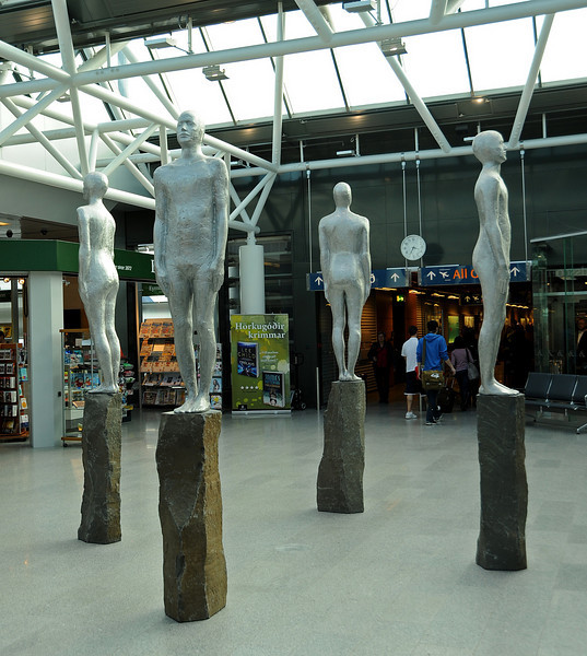More human form sculptures, Keflavik Airport, Iceland, Sep 2010
