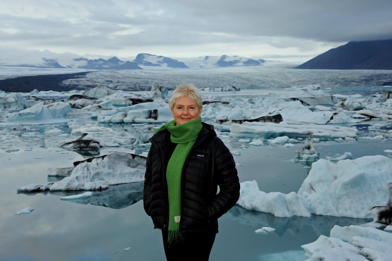 Virginia,  Jokulsarlon glacier lagoon, Sep 2010
