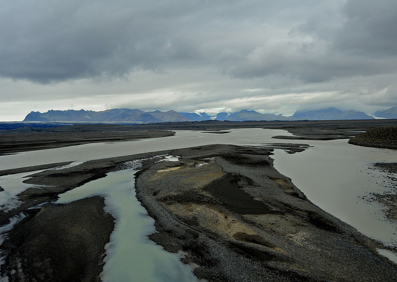 Glacial outflow, Mýrdalsjökull glacier, Iceland, Sep 2010