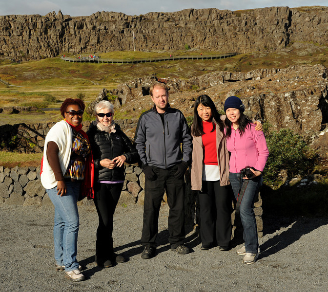 Our tour group at þingvellir , Iceland, Sep 2010