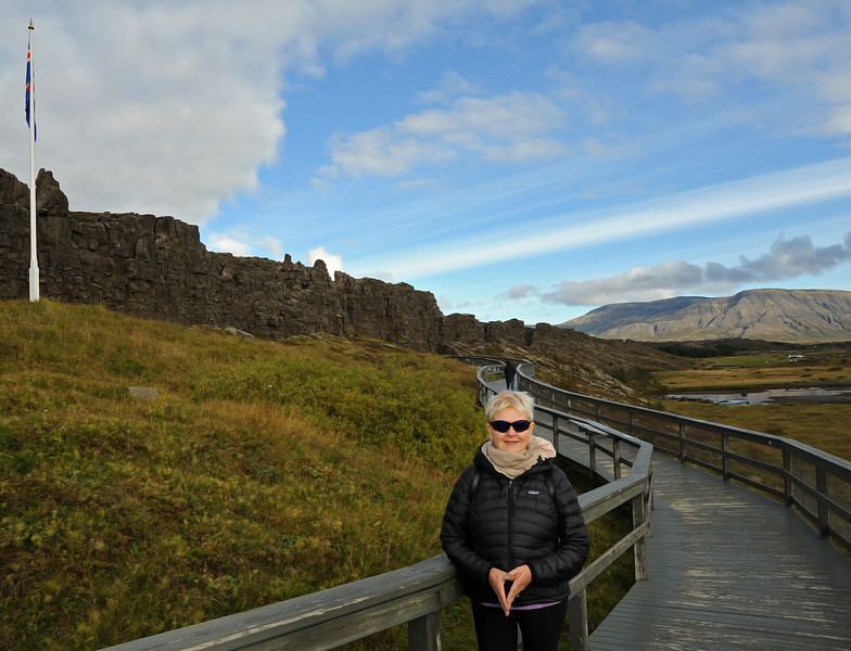 Virginia, þingvellir, Iceland, Sep 2010