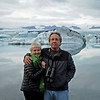 Virginia and Ted, Jokulsarlon glacier lagoon, Iceland, Sep 2010