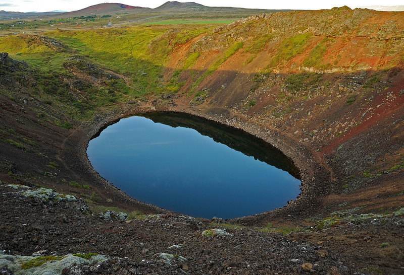 Kerid volcanic crater lake, Iceland, Sep 2010