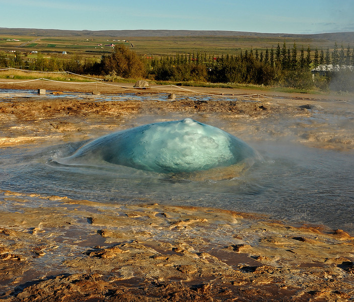 "Strokkur ""green bubble,"" Geysir, Iceland, Sep 2010"