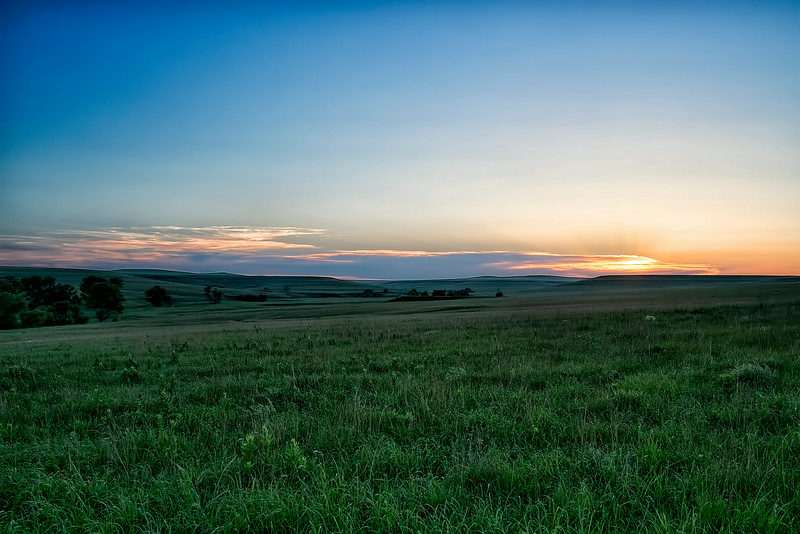 Tallgrass prairie sunset