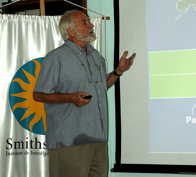 Tony Coates speaking in Barro Colorado, NAI, Panama