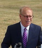 Ted Strickland At Press Conference In Toledo, OH