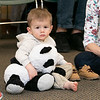 Song Time Fun and Stuffed Animal Parade was held at the Leominster Public Library Jodie Rachman who is known as Ukulele J. Hugging his stuffed panda bear is Owen Favreau, 2. SENTINEL & ENTERPRISE/JOHN LOVE