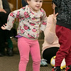 Song Time Fun and Stuffed Animal Parade was held at the Leominster Public Library Jodie Rachman who is known as Ukulele J. Dancing to the songs by Rachman is Olivia Berojowki, 2. SENTINEL & ENTERPRISE/JOHN LOVE
