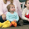 Song Time Fun and Stuffed Animal Parade was held at the Leominster Public Library Jodie Rachman who is known as Ukulele J. Listening to Rachman is Mia Majewski, 1, and Maddox Majewski, 4. SENTINEL & ENTERPRISE/JOHN LOVE