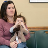 Song Time Fun and Stuffed Animal Parade was held at the Leominster Public Library Jodie Rachman who is known as Ukulele J. singing along with Rachman is Ashleigh Gelinas with her son Jacob Gelinas, 1. SENTINEL & ENTERPRISE/JOHN LOVE