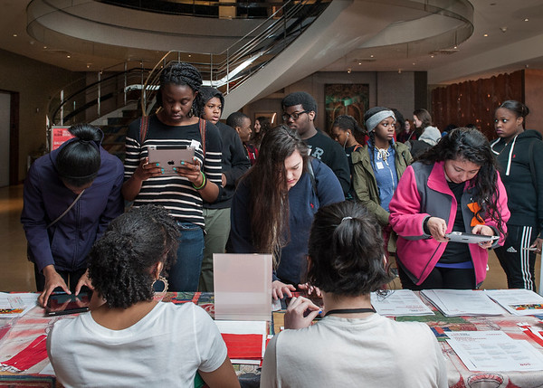 Teen Day at the Rubin Museum of Art,  April 2015