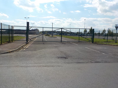 This is the Old access area post the Gate appearing the TNT building is behind us