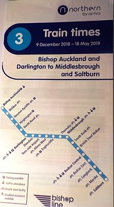Northern Rail Timetable # 3 for Teesside Airport Service   New to Smugmug??   To read the print clearly / make the picture bigger:   Best way to read it if you new to Smugmug  Put your mouse pointer over the centre of pic and   Double click which blows it up.   Then in the Bottom RIGHT-hand corner   There is a RESIZE BUTTON so select size you want.   To cancel and come back just click the big X in the top right-hand   corner