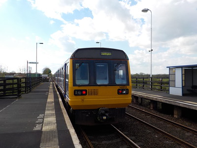 142 015   Departs Teesside Airport   We where the only ones to actually get off by way in case you where   wondering
