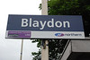 Blaydon unusually still had both it's old style BR sign & the new Northern style signs