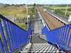Pic by Liz <br /> <br /> Looking down the Footbridge stairs onto platform 1 and the station exit ramp