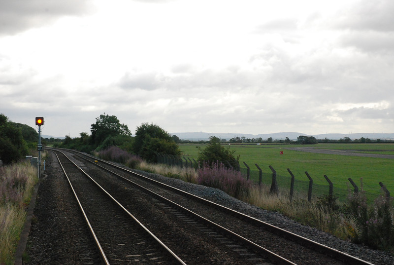 The line looking towards Allens West and Middlesbrough<br /> <br />  the A67 road is on the left and the Airport is to the right