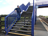 Pic by Liz <br /> <br /> Ghost Station Man Stands on the footbridge steps