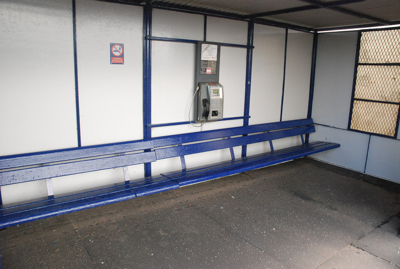 Big long bench's in the waiting shelter as well