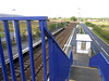 Pic by Liz <br /> <br /> Looking down the steps of the footbridge onto platform 2