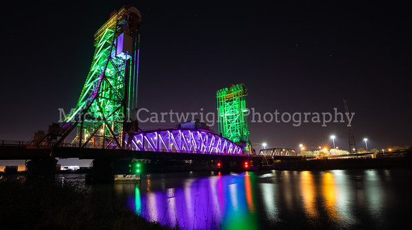 Newport Bridge at Night