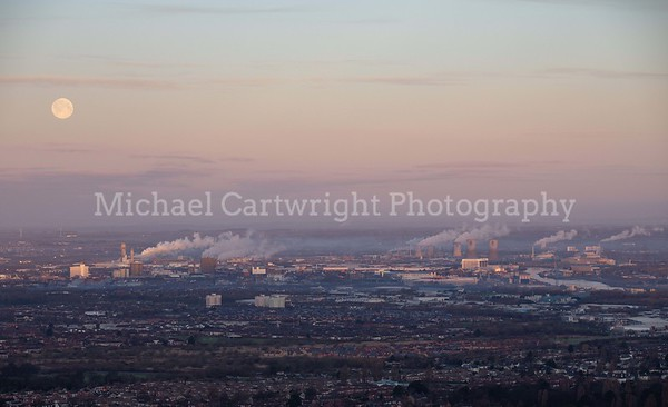 Moonrise Over Teesside