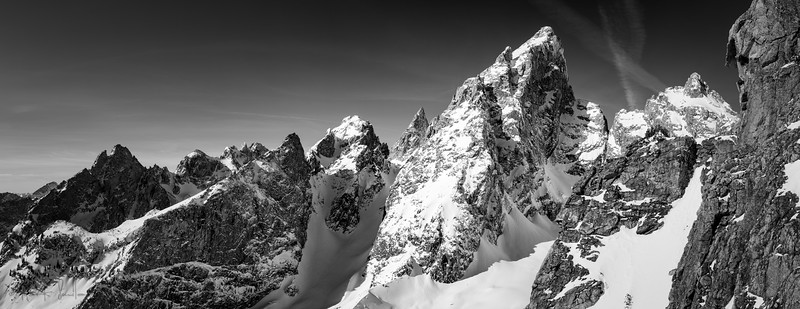 The Tetons B&W