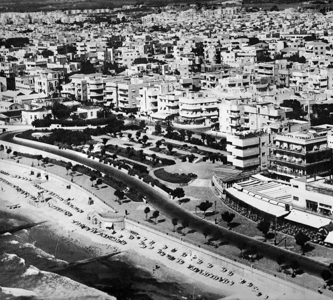 View of Tel-Aviv and its Beach Promenade