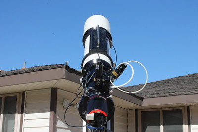 My imaging setup. TEC 160FL APO, AP1100GTO w/36lbs counterweights, QHY600M, QHY CFW3-M, TEC Field Flattener, Ultrastar autoguider, Optec QuickSync focuser, PoleMaster.