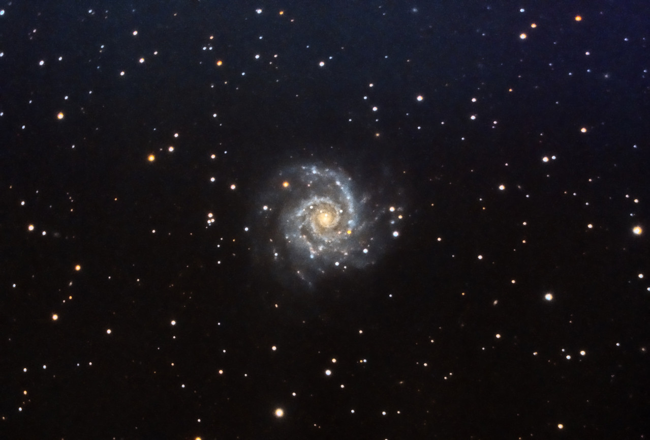 Spiral Galaxy, M74. 11/12/2010. CPC0800 F/6.3 focal reducer. Mitty Wedge. SXVR-M25C. IDAS LPS Filter. Hutech OAG. Lodestar. 21 x 10 minutes. Total 210 minutes. Processed with PixInSight.