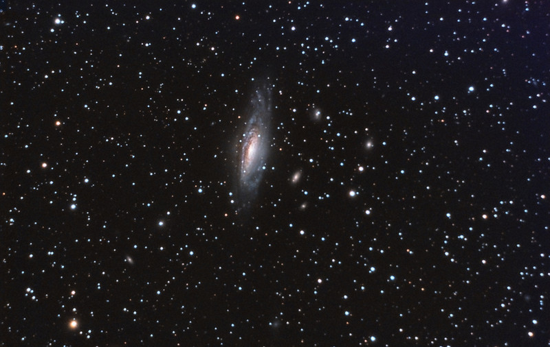 Galaxy, NGC7331. 9/3/2010 and 9/4/2010. CPC0800 F/10. Mitty Wedge. SXVR-M25C. IDAS LPS Filter. Hutech OAG. Lodestar. 26 x 15 minutes and 6 x 30 minutes. Total 570 minutes. Processed with PixInSight.