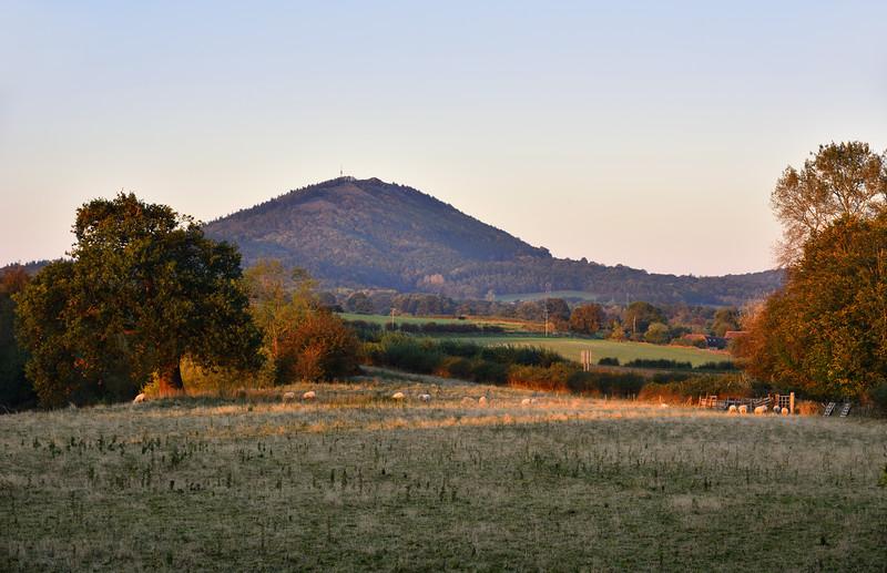 The Wrekin viewed from Cressage.