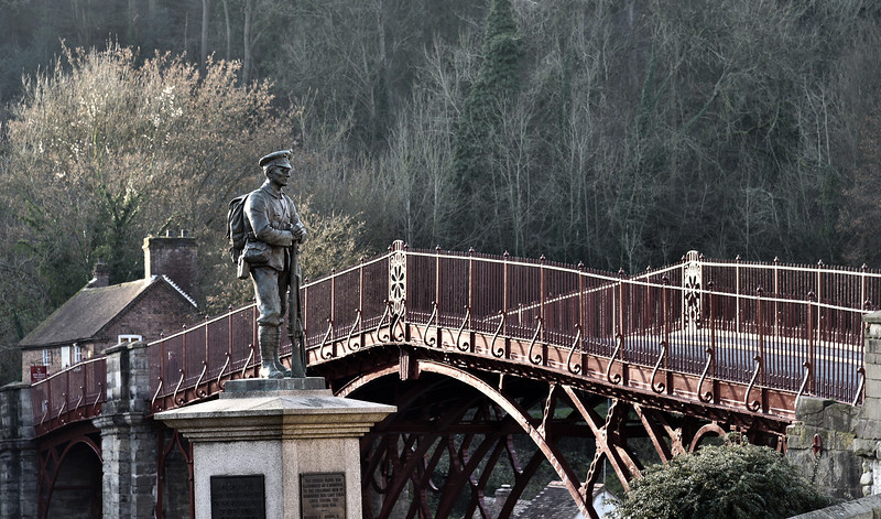 War memorial and Ironbridge