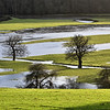 The river Severn flooding at Leighton.