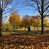 Telford Town Park in autumn.