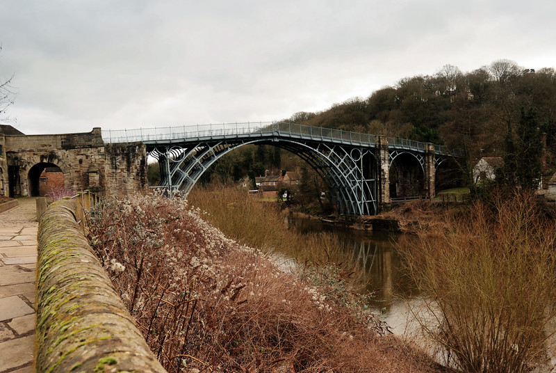 The Ironbridge in winter.