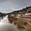 Ironbridge river Severn and Wharfage.