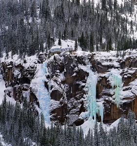 Bridel Veil frozen waterfall