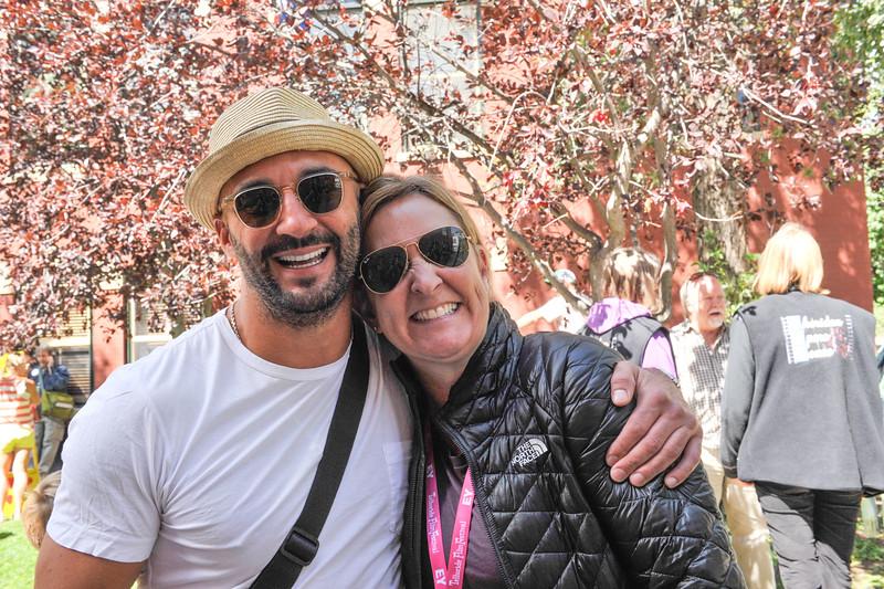 Yann Demange and Julie Huntsinger attend the Camp Telluride Photo Opp