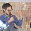 Actor Gael Garcia Bernal speak at a seminar at Elks Park