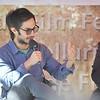 Actor Gael Garcia Bernal and journalist Mark Danner speak at a seminar at Elks Park