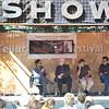 Actor Gael Garcia Bernal, journalist Mark Danner, Director Jon Stewart and journalist Maziar Bahari speak at a seminar at Elks Park