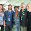 Adam Hart, director Al Hicks, AFI Fest Director Jacqueline Lyanga, TFF Fest Director Gary Meyer and director Joshua Oppenheimer attend the Labor Day Picnic