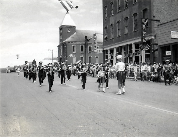 2004-01-363: Marching Band On Main Street July Fourth c. 1950