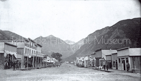 1995-114-06: Colorado Avenue Looking East - Telluride, Colorado 1884